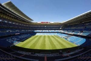 Our seats at Santiago Bernabéu's stadium