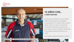 10 años colaborando con Ingeniería e Innovación - Euro Seating International