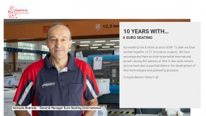 10 years with Ingenieria e Innovación - Euro Seating Internacional